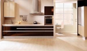 Кухня коричневая под заказ